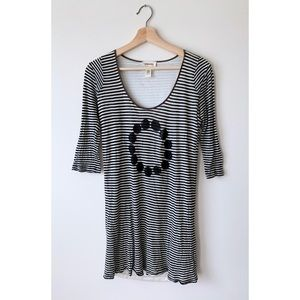 Diesel 🌓 Black & White Striped Scoop Neck Dress